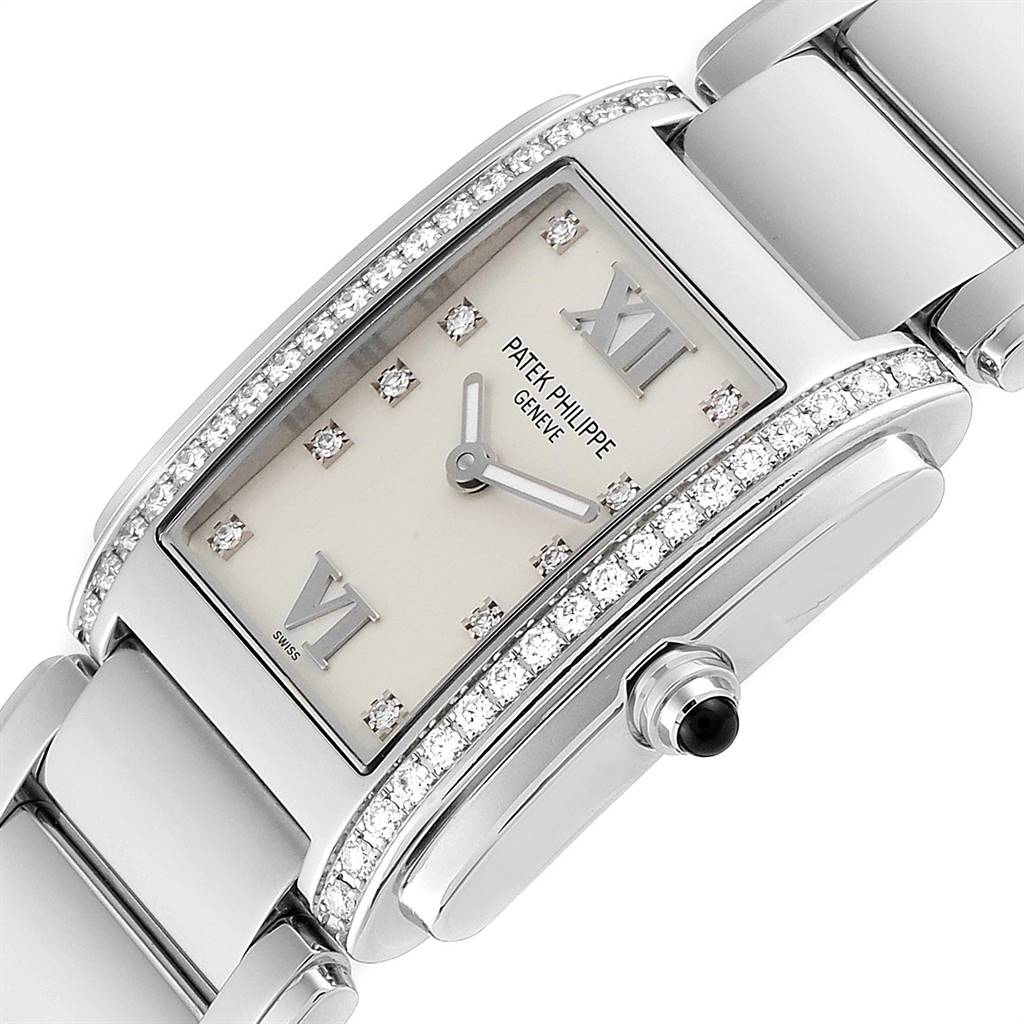 Patek Philippe Twenty-4 Diamond Ladies Quartz Watch 4910 SwissWatchExpo