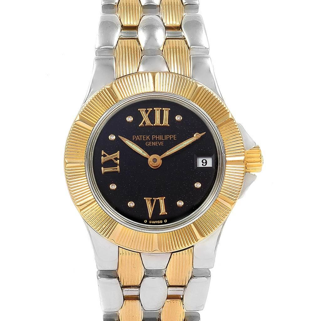 21169 Patek Philippe Neptune Steel 18k Yellow Gold Ladies Watch 4880 SwissWatchExpo