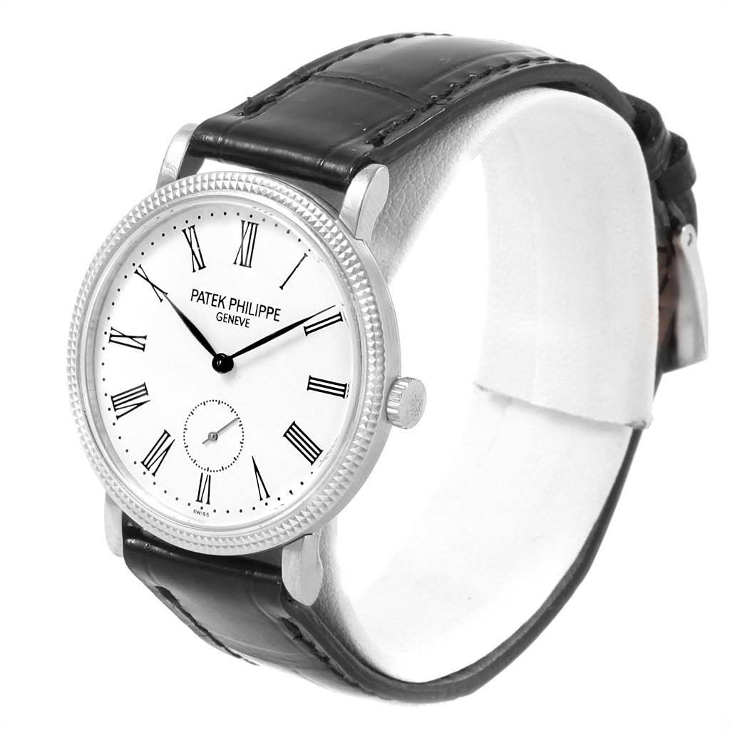 21611 Patek Philippe Calatrava 31mm White Gold Ladies Watch 7119G Box Papers SwissWatchExpo
