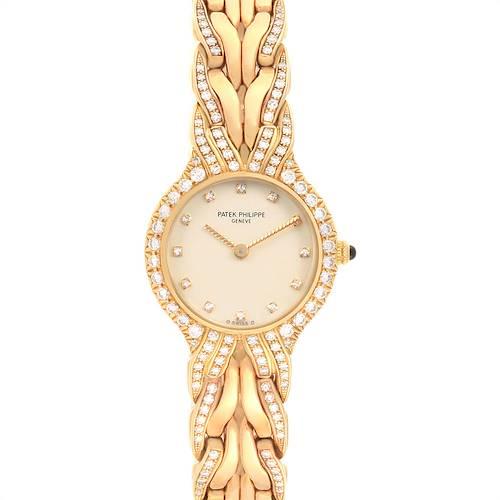 Photo of Patek Philippe La Flamme 18k Yellow Gold Diamond Ladies Watch 4816