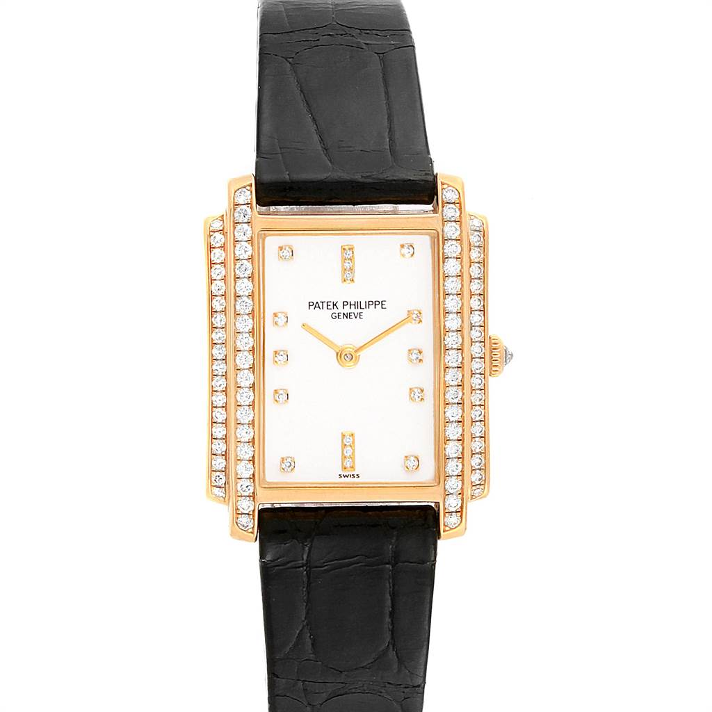 22196 Patek Philippe Gondolo 18k Yellow Gold Diamond Ladies Watch 4825 SwissWatchExpo