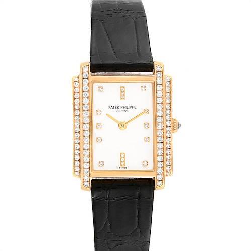 Photo of Patek Philippe Gondolo 18k Yellow Gold Diamond Ladies Watch 4825