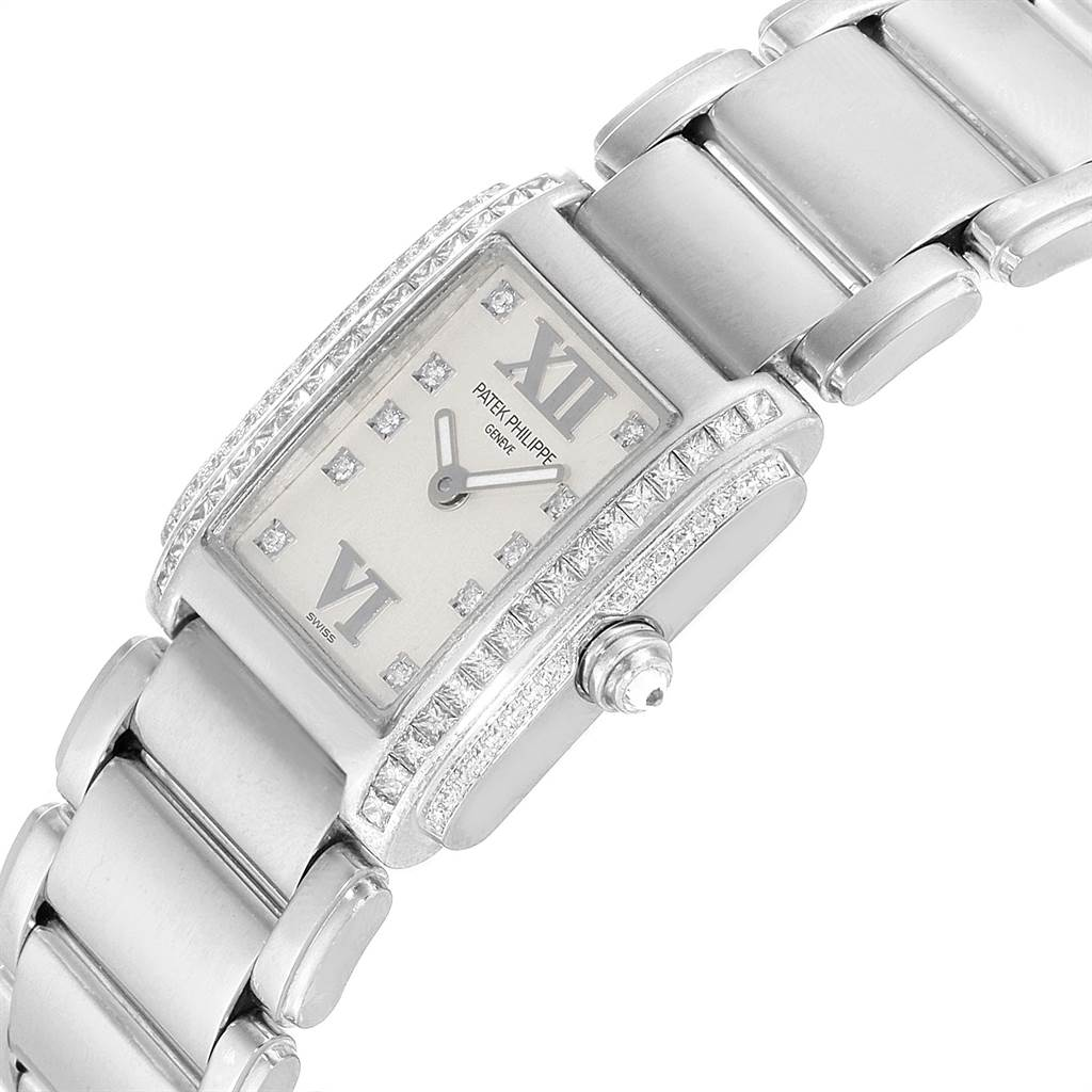 23090 Patek Philippe Twenty-4 18K White Gold Diamond Ladies Watch 4908/200G-011 SwissWatchExpo