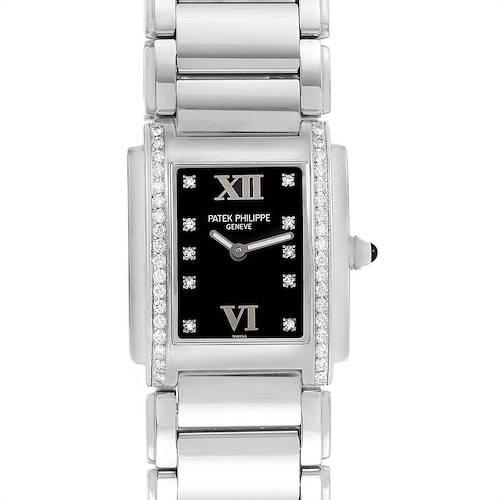 Photo of Patek Philippe Twenty-4 Black Diamond Dial Bezel Ladies Watch 4910