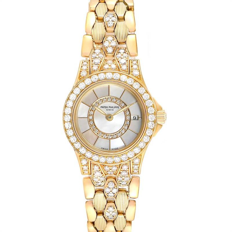 Patek Philippe Neptune Yellow Gold Diamond Ladies Watch 4881-120 SwissWatchExpo
