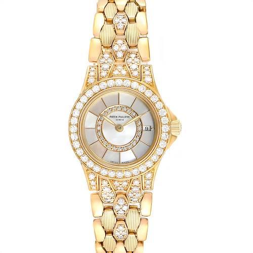Photo of Patek Philippe Neptune Yellow Gold Diamond Ladies Watch 4881-120