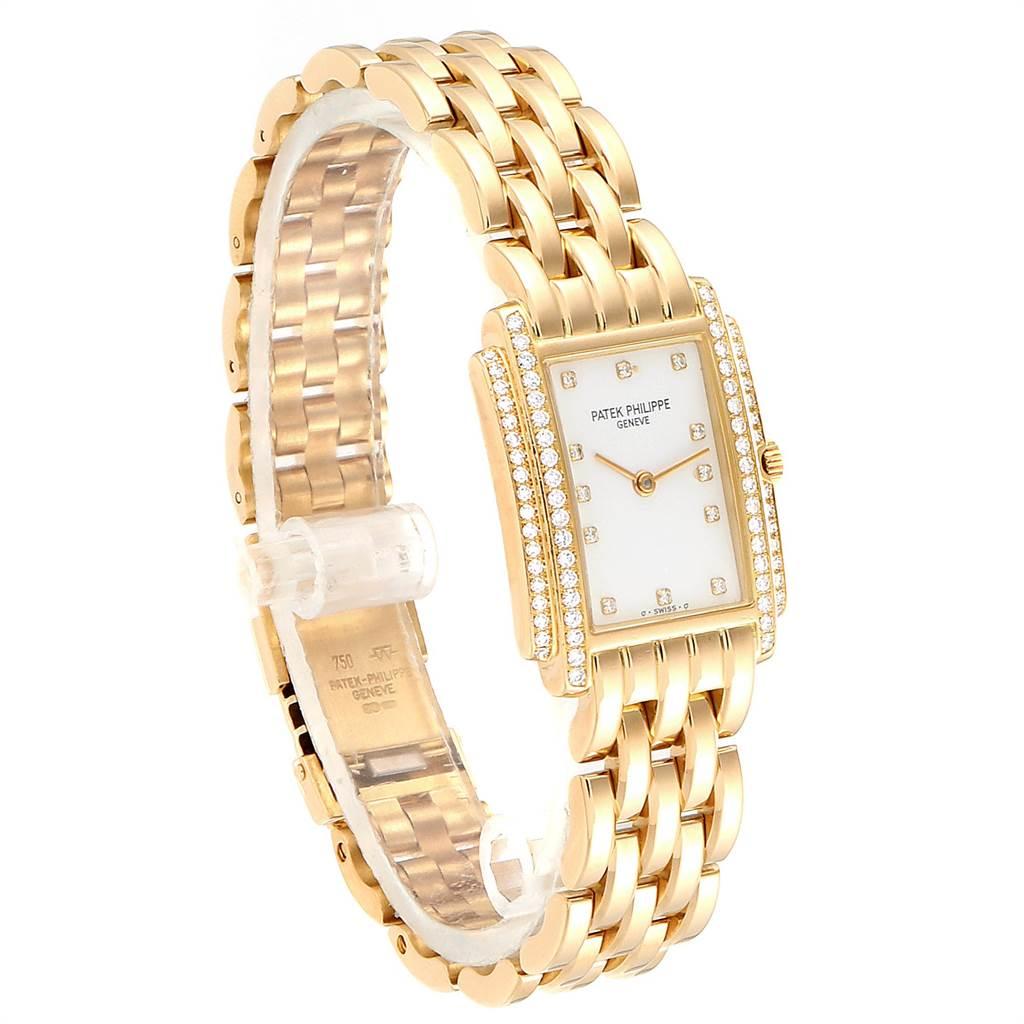 Patek Philippe Gondolo 18k Yellow Gold Diamond Ladies Watch 4825 SwissWatchExpo