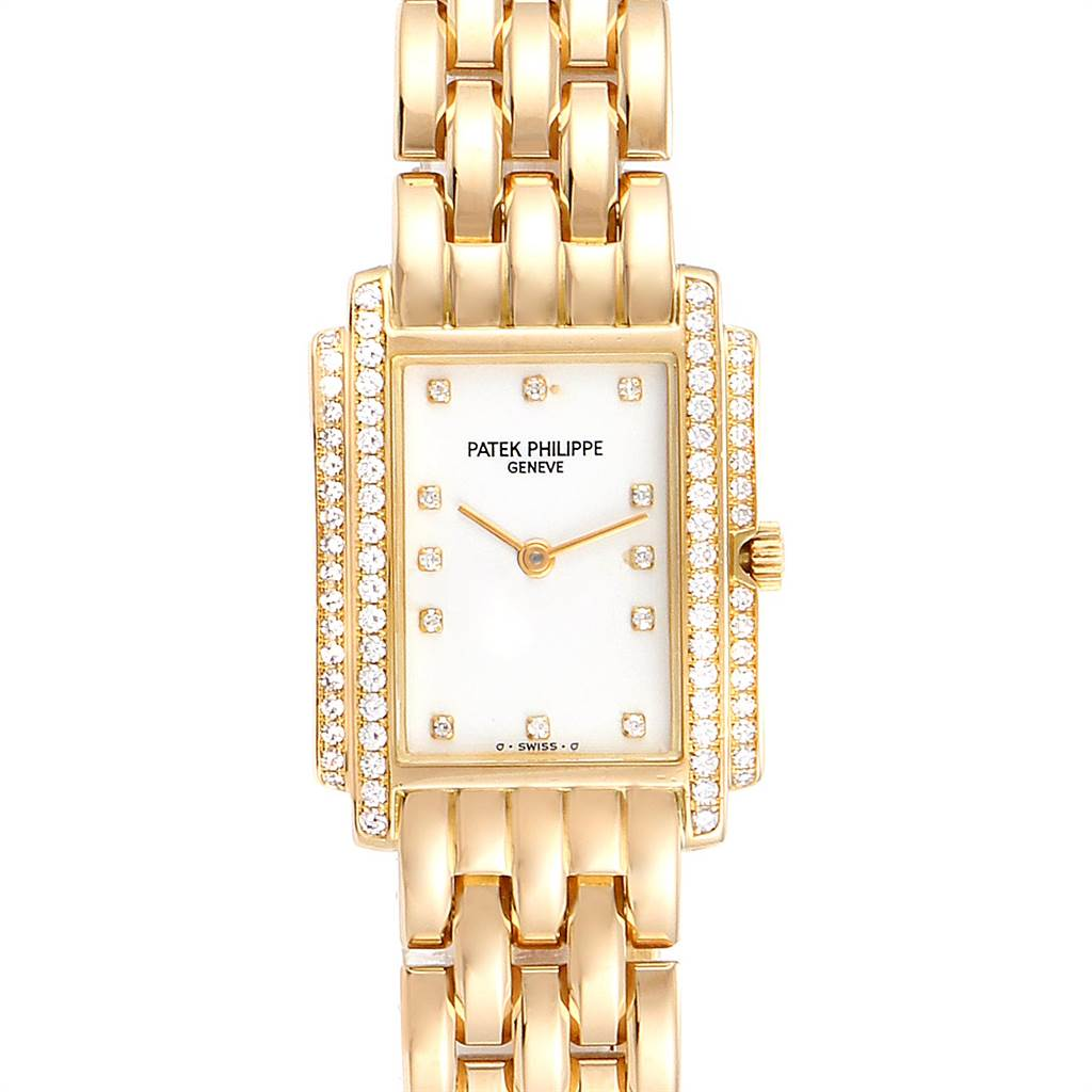 Patek Philippe Gondolo 18k Yellow Gold Diamond Ladies Watch 4825 SwissWatchExpo