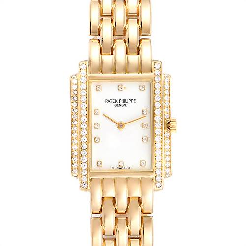 Photo of Patek Philippe Gondolo 18k Yellow Gold Diamond Ladies Watch 4825