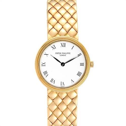 Photo of Patek Philippe Calatrava Yellow Gold Hobnail Bezel Ladies Watch 4819
