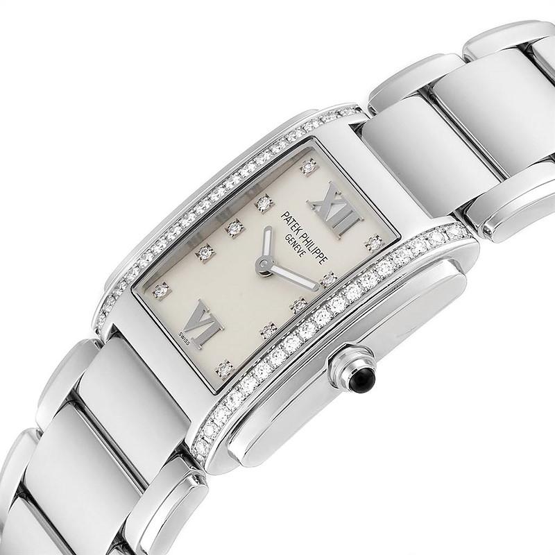 Patek Philippe Twenty-4 Diamond Ladies Quartz Watch 4910/10A-010 SwissWatchExpo