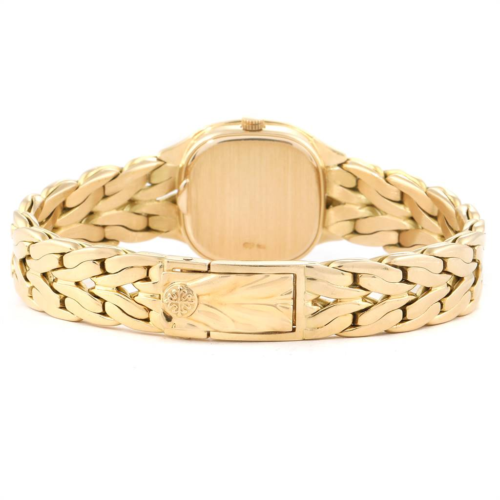 Patek Philippe La Flamme 18k Yellow Gold Diamond Ladies Watch 4715 SwissWatchExpo