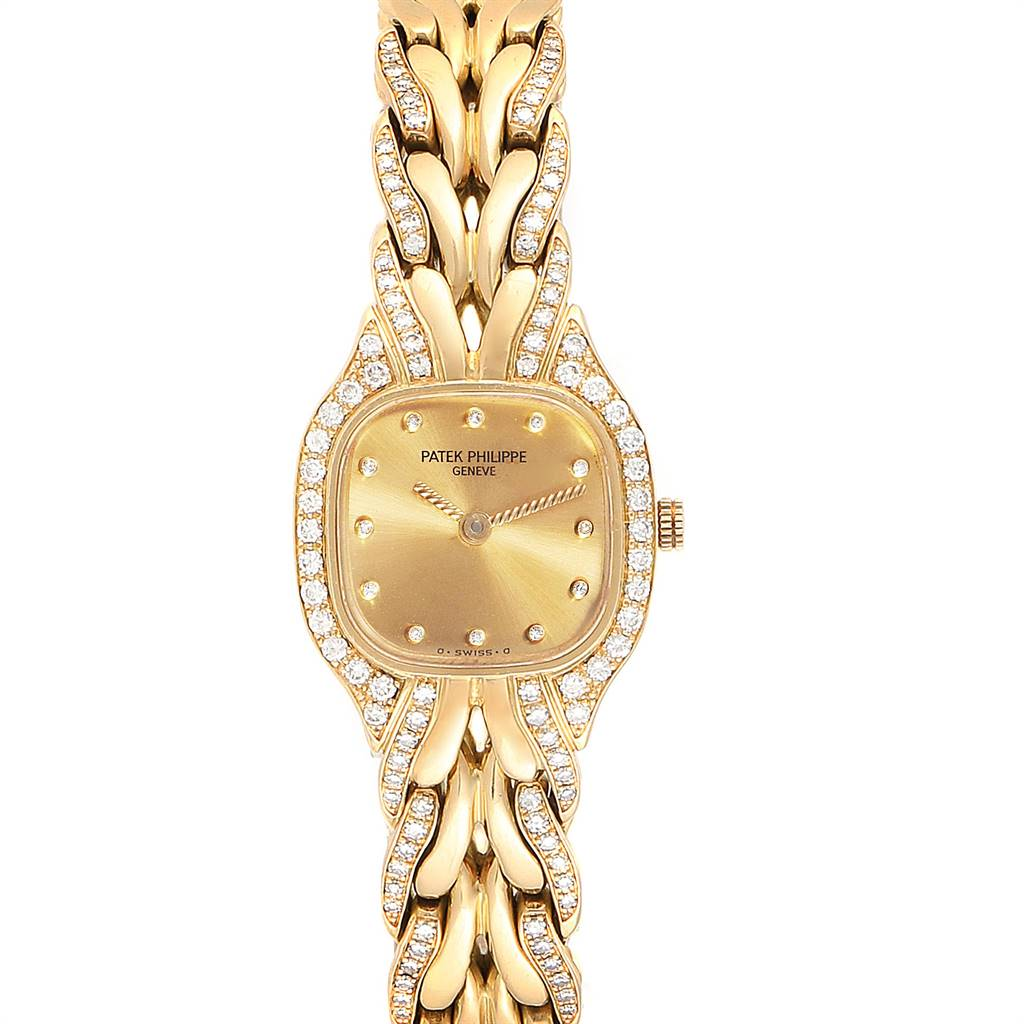 Patek Philippe La Flamme 18k Yellow Gold Diamond Ladies Watch 4715