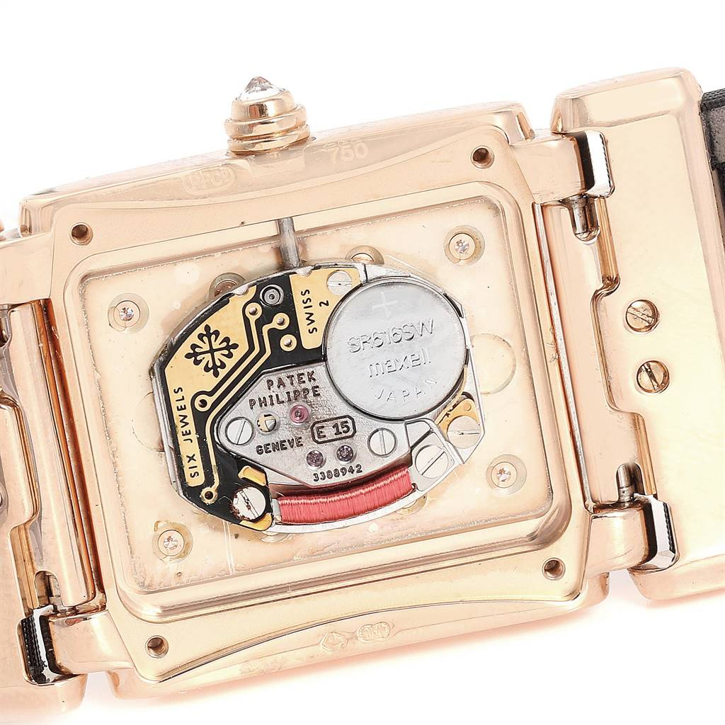 24735 Patek Philippe Twenty-4 Rose Gold Black Strap Diamond Ladies Watch 4920R SwissWatchExpo
