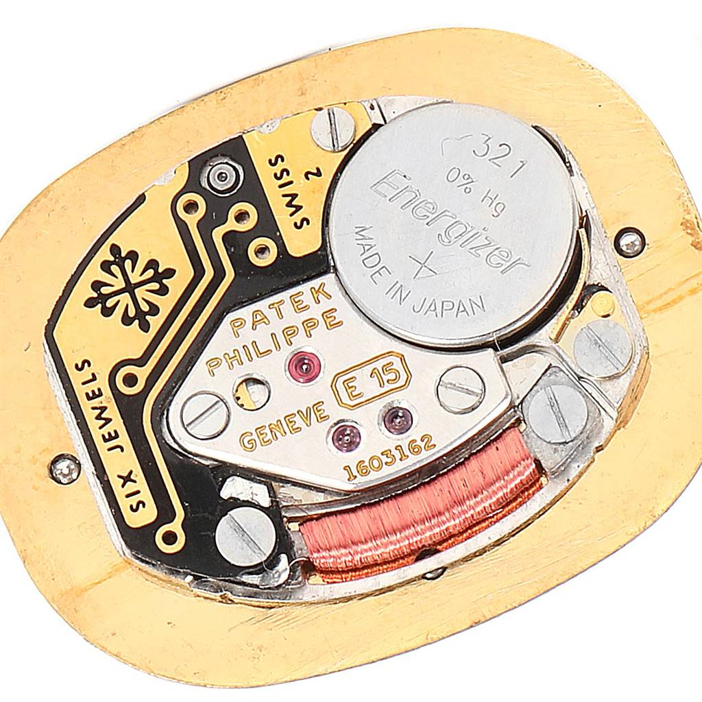 24500X Patek Philippe Golden Ellipse 18k Yellow Gold Blue Dial Ladies Watch 4698 SwissWatchExpo