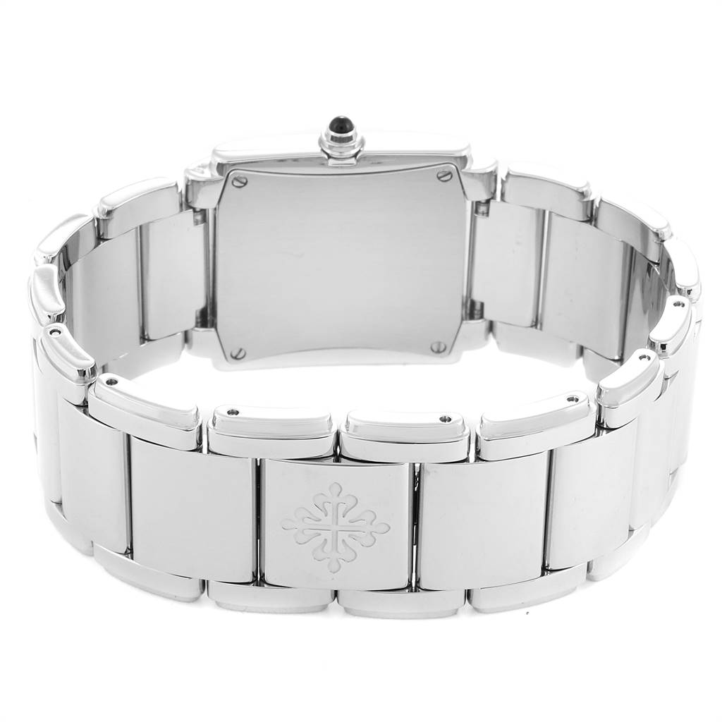 24823 Patek Philippe Twenty-4 Blue Dial Steel Diamond Ladies Watch 4910 SwissWatchExpo