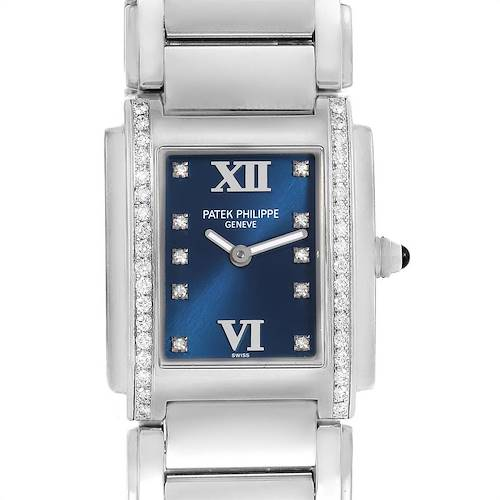 Photo of Patek Philippe Twenty-4 Blue Dial Steel Diamond Ladies Watch 4910