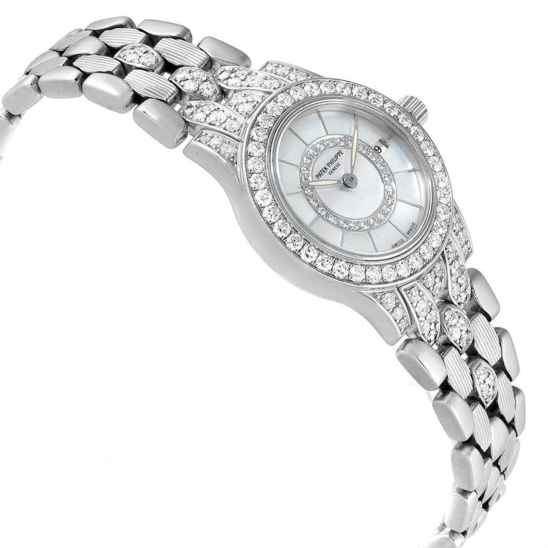 Patek Philippe Neptune White Gold Diamond Ladies Watch 4881 SwissWatchExpo