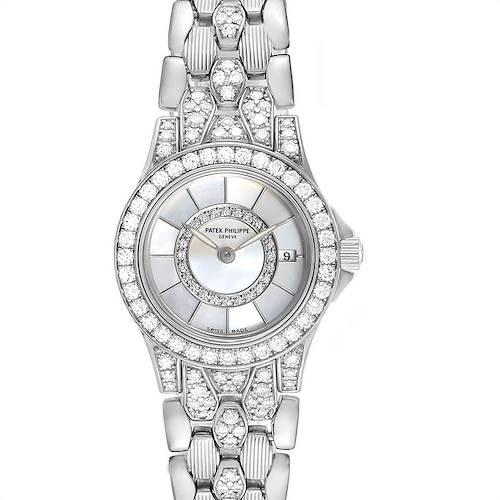 Photo of Patek Philippe Neptune White Gold Diamond Ladies Watch 4881