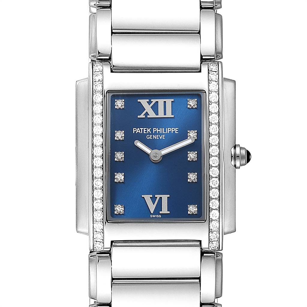 Photo of Patek Philippe Twenty-4 Blue Dial Steel Diamond Ladies Watch 4910