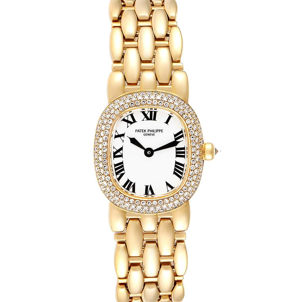 Patek Philippe Golden Ellipse Yellow Gold Diamond Ladies Watch 4831 SwissWatchExpo