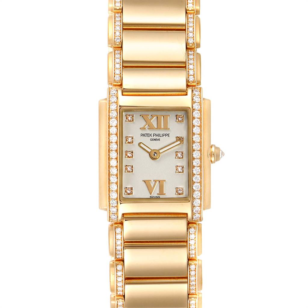 Patek Philippe Twenty-4 Small 18K Rose Gold Diamond Ladies Watch 4908 SwissWatchExpo