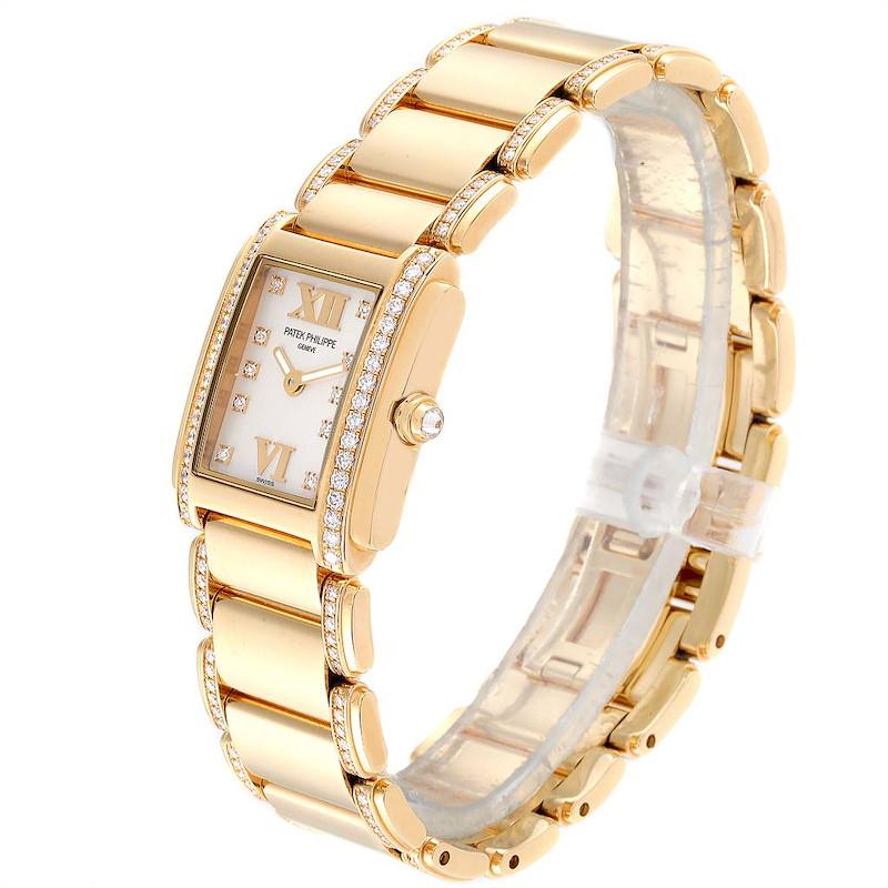 Patek Philippe Twenty-4 Small 18K Rose Gold Diamond Ladies Watch 4908 SwissWatchExpo