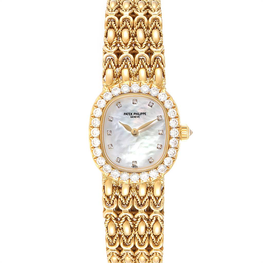 Patek Philippe Golden Ellipse Yellow Gold Diamond Ladies Watch 4931