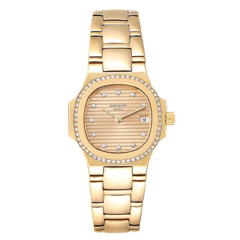 Patek Philippe Nautilus 18K Yellow Gold Diamond Ladies Watch 4700 SwissWatchExpo