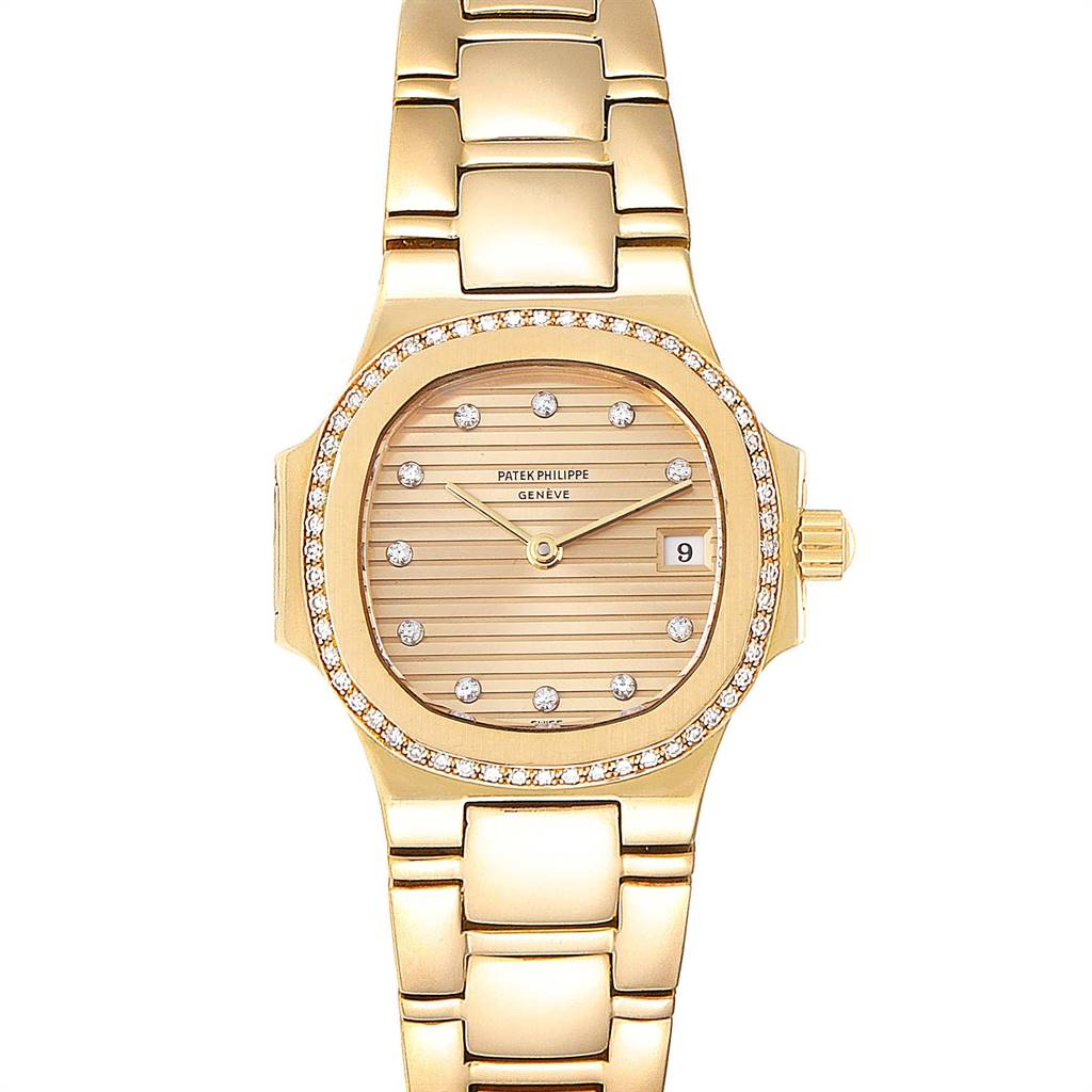 Patek Philippe Nautilus 18K Yellow Gold Diamond Ladies Watch 4700