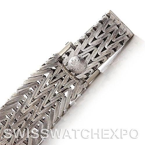 2913 Patek Philippe Vintage Ladies 18k White Gold Diamond Watch 3293/1 SwissWatchExpo