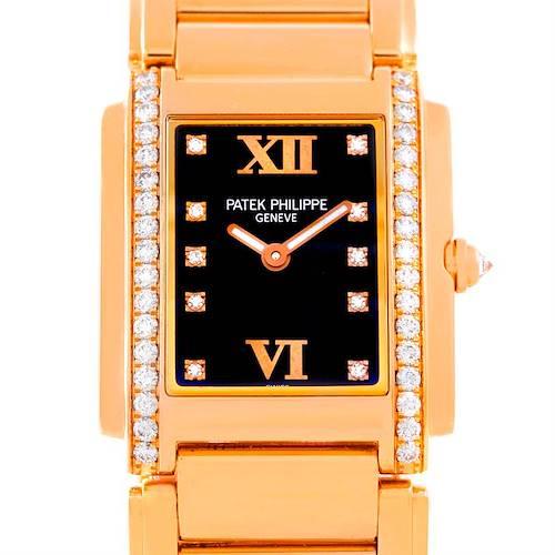 Photo of Patek Philippe Twenty 4 18K Rose Gold Diamond Ladies Watch 4910-11R