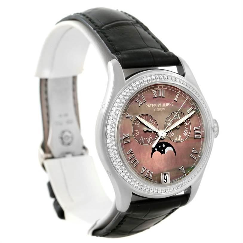 Patek Philippe Annual Calendar White Gold MOP Diamond Watch 4936G SwissWatchExpo