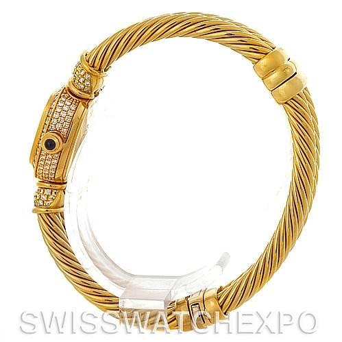 David Yurman Chelsea Cable 18K Yellow Gold 2.25 ct Diamond Watch SwissWatchExpo