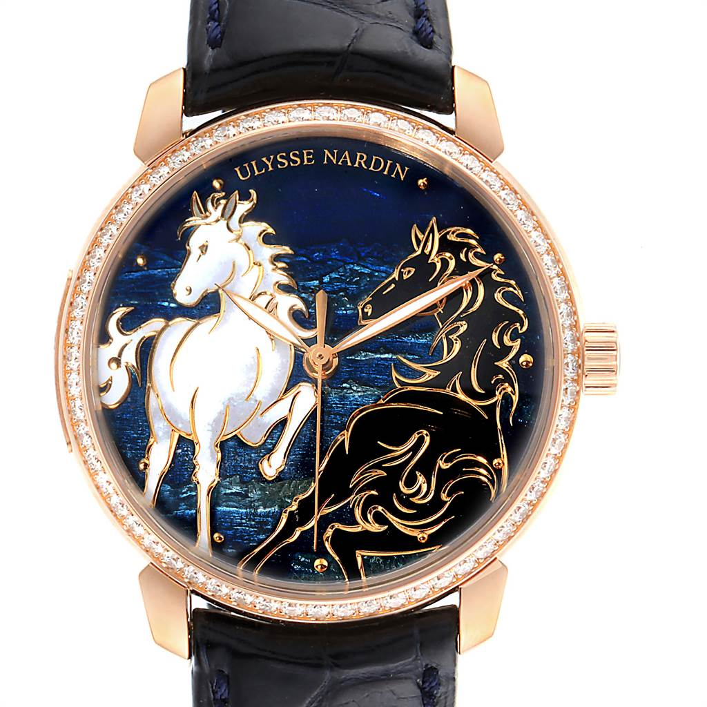 Ulysse Nardin Classico Horse Rose Gold Diamond Limited Edition Watch 8156