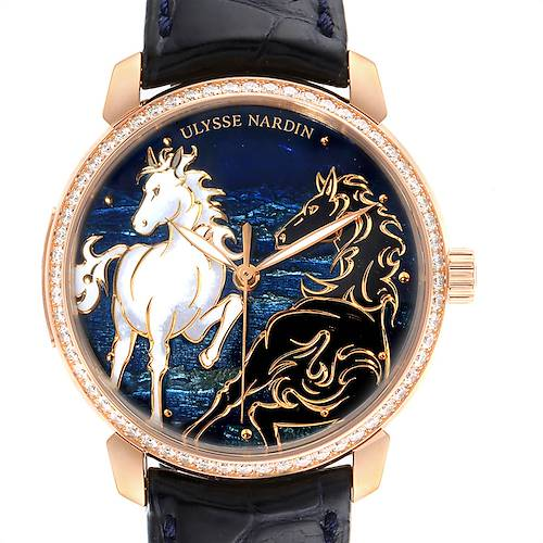 Photo of Ulysse Nardin Classico Horse Rose Gold Diamond Limited Edition Watch 8156