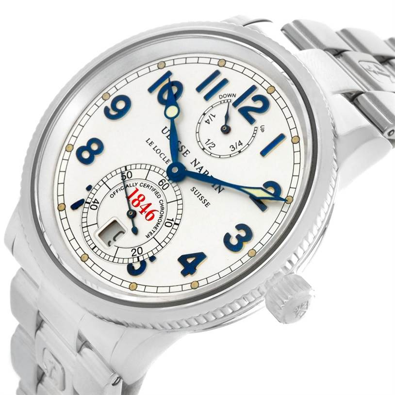 4279 Ulysse Nardin Marine Chronometer Steel Mens Watch 263 - 22 SwissWatchExpo