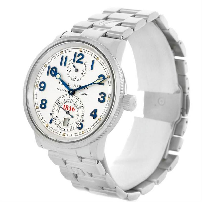 Ulysse Nardin Marine Chronometer Steel Mens Watch 263 - 22 SwissWatchExpo