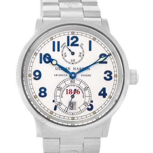 Photo of Ulysse Nardin Marine Chronometer Steel Mens Watch 263 - 22