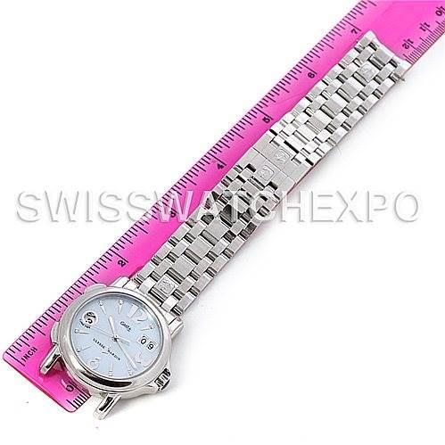 Ulysse Nardin Dual Time Ladies Steel Watch 223-22 SwissWatchExpo