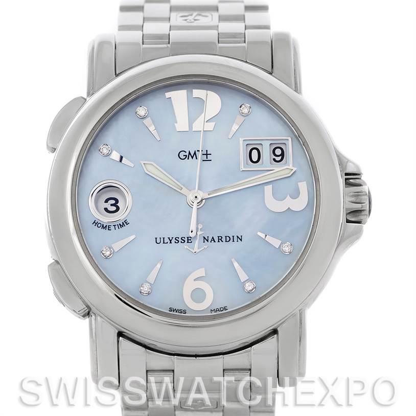 Photo of Ulysse Nardin Dual Time Ladies Steel Watch 223-22