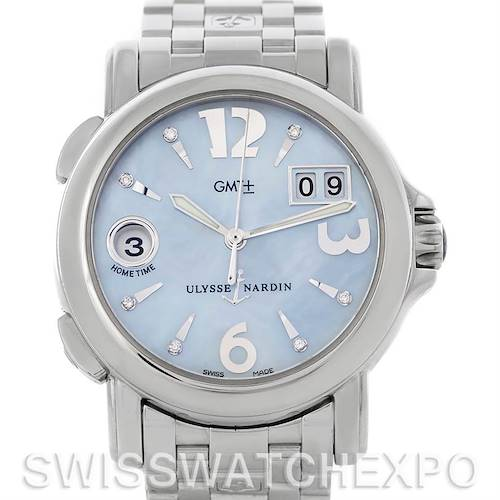 Photo of Ulysse Nardin Dual Time Ladies Steel Watch 223-22