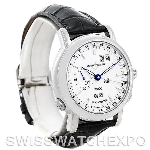 5591P Ulysse Nardin GMT Perpetual Platinum 329-80 Limited Edition Men's Watch SwissWatchExpo