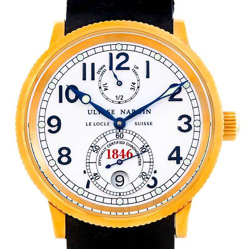 Photo of Ulysse Nardin Marine 18K Yellow Gold Watch 261-77-3 Unworn