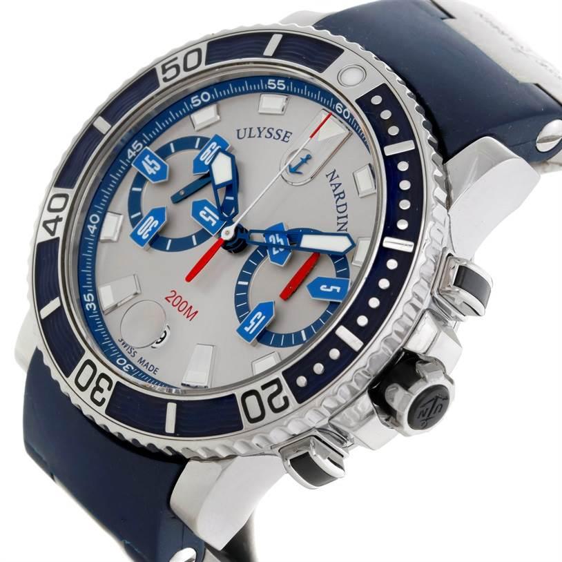 9194 Ulysse Nardin Maxi Marine Diver Chronograph Watch 8003-102 SwissWatchExpo