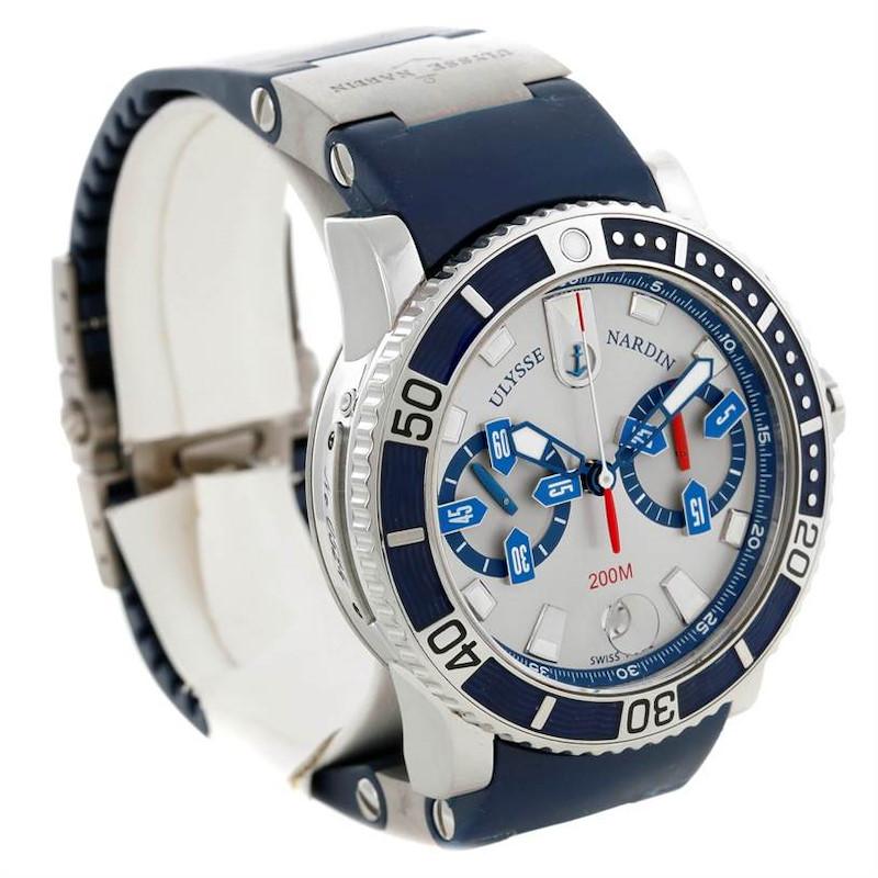 Ulysse Nardin Maxi Marine Diver Chronograph Watch 8003-102 SwissWatchExpo