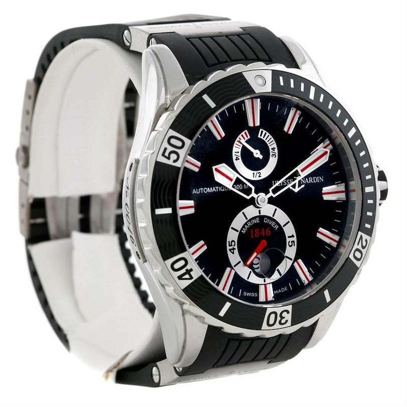 Ulysse Nardin Maxi Marine Diver Black Dial Rubber Watch 263-10-3-92 SwissWatchExpo