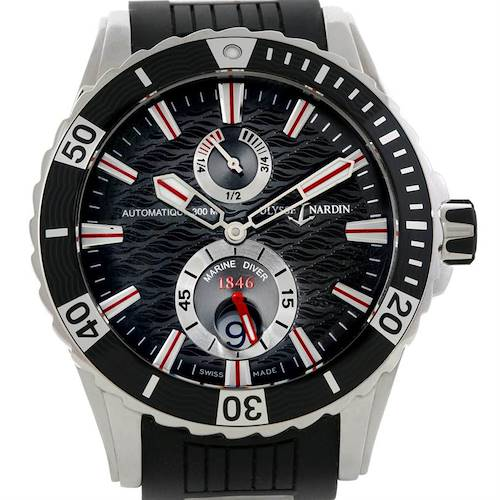 Photo of Ulysse Nardin Maxi Marine Diver Black Dial Rubber Watch 263-10-3-92