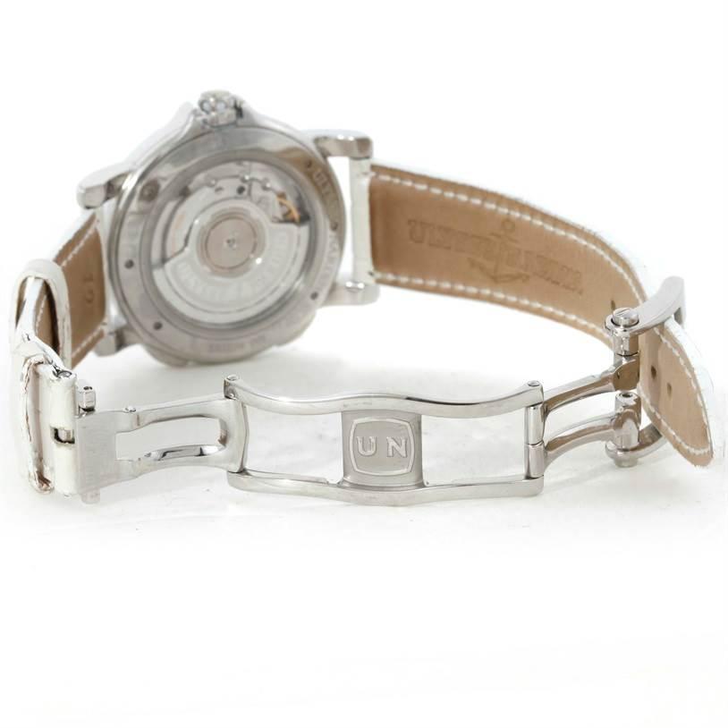 9563 Ulysse Nardin Big Date GMT Ladies Steel Watch 243-22B Unworn SwissWatchExpo