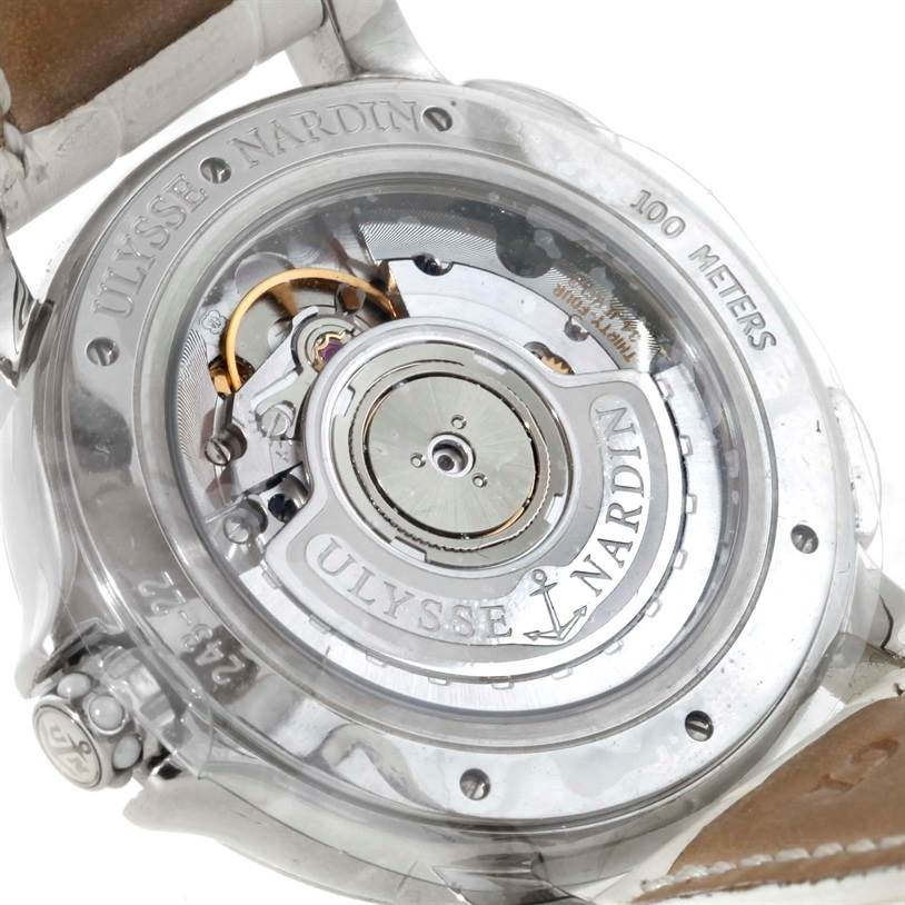 Ulysse Nardin Big Date GMT Ladies Steel Watch 243-22B Unworn SwissWatchExpo